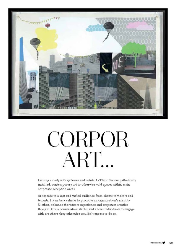 H Edition publication - exhibition at Tower 42 London, facilitated by Artful.
