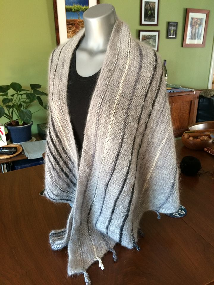 Silvia light mohair shawl