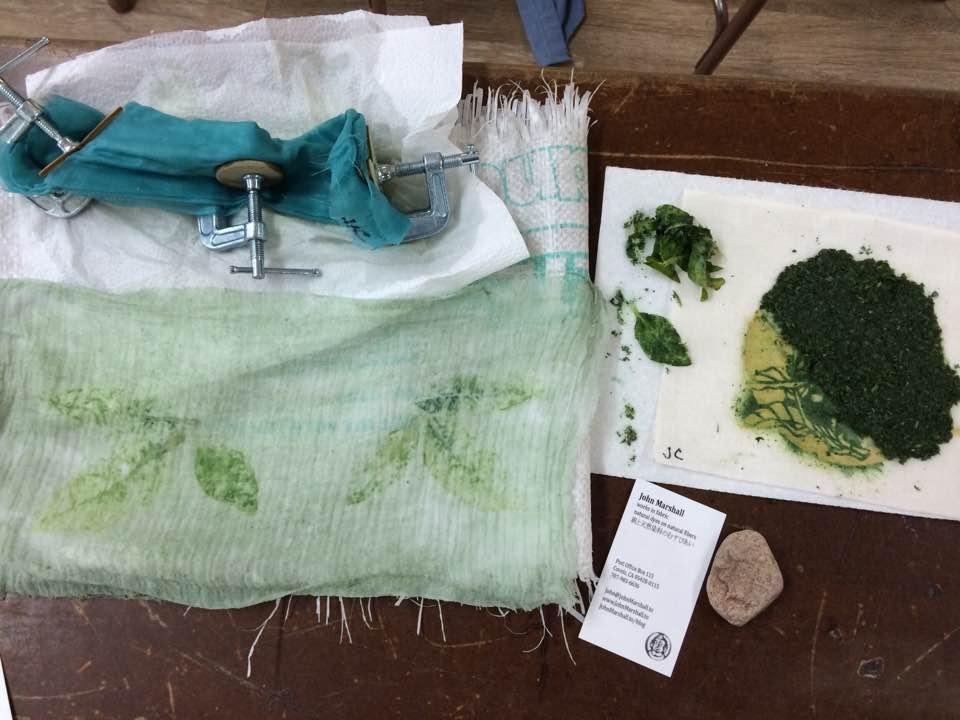 Materials: John Marshall dye workshop