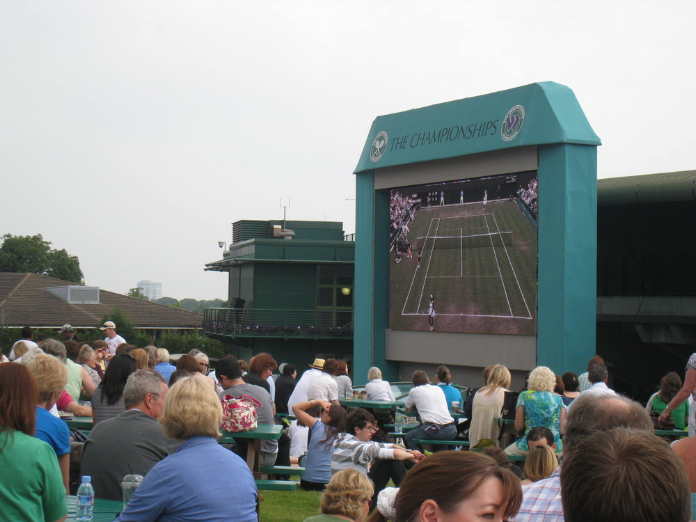 Watch the Big Screen - Enjoy some food on the famous hill to watch your favourite players on the Big Screen. Creates a great atmosphere when a big match is being played.