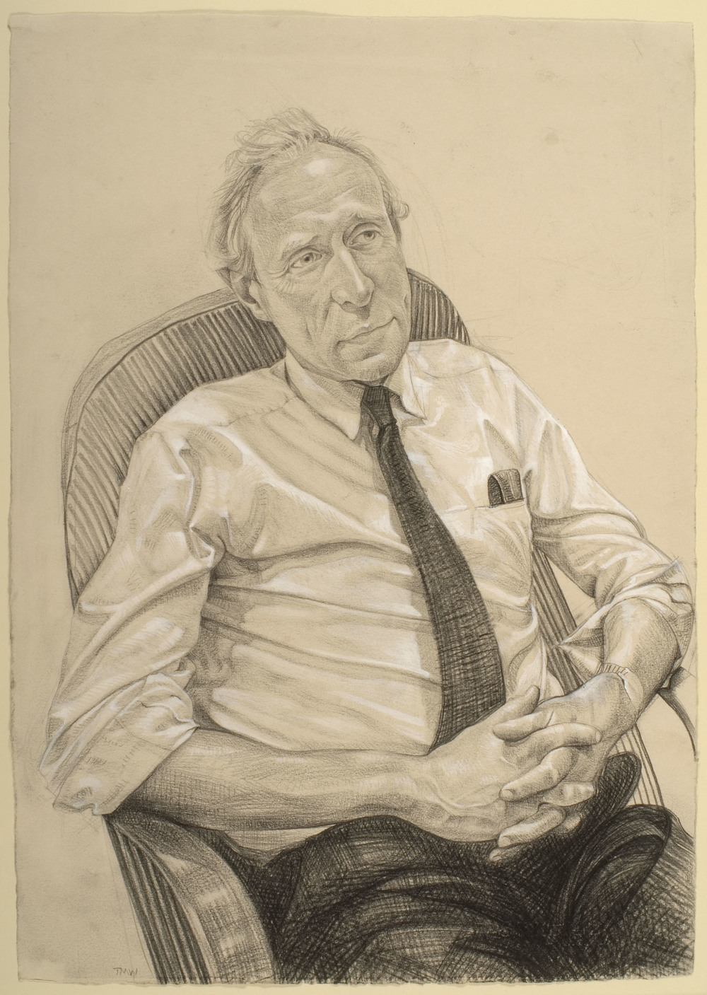 "'Peter Greg, farmer and farm retailer, Honiton, Devon-Winner of Radio 4  Food and Farming Award  2008' pencil on paper 59x44cm(23""x17"")."