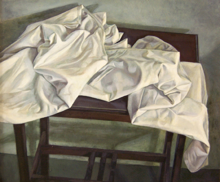 'Cloth over Table' 51x57cm(20x22inches) oil on gesso panel. private collection.