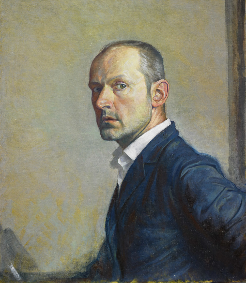 "'Self Portrait after GSW' oil on linen 75x65cm (30""x26"")."