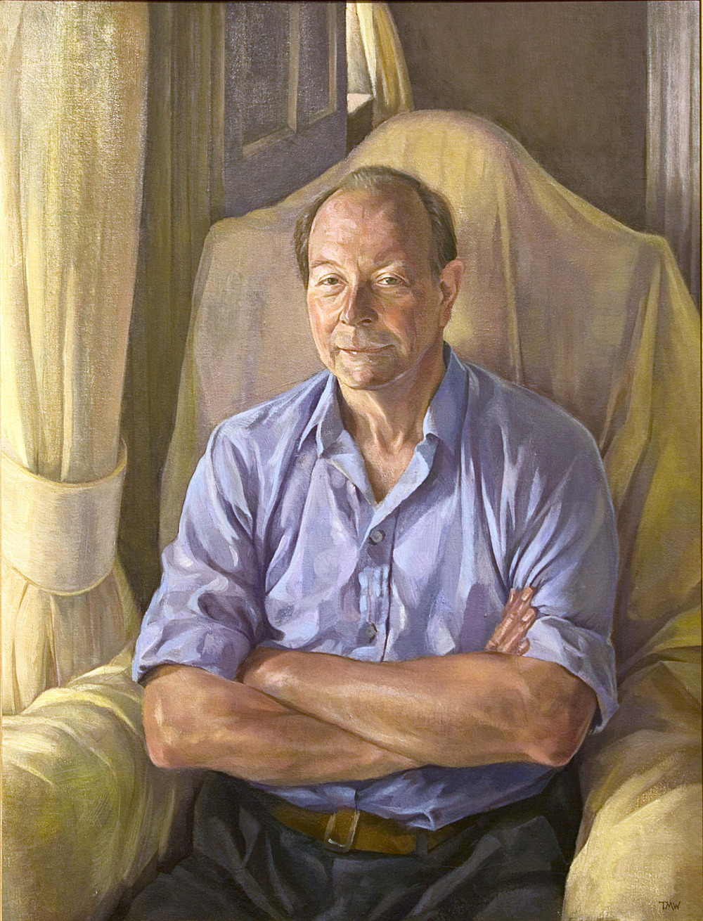"'Lord Hamilton' oil on linen approx.80x60cm (32""x24""). Private collection."