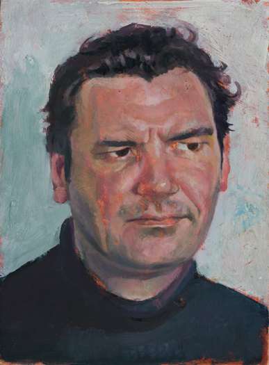 "'Charlie Burt' oil on gesso panel 20x15cm (8""x6"")."
