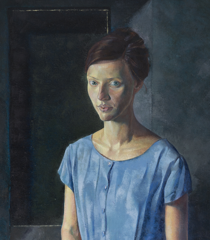 'Girl with a Ring' Detail oil on linen 153x 72cm Toby Wiggins.jpg