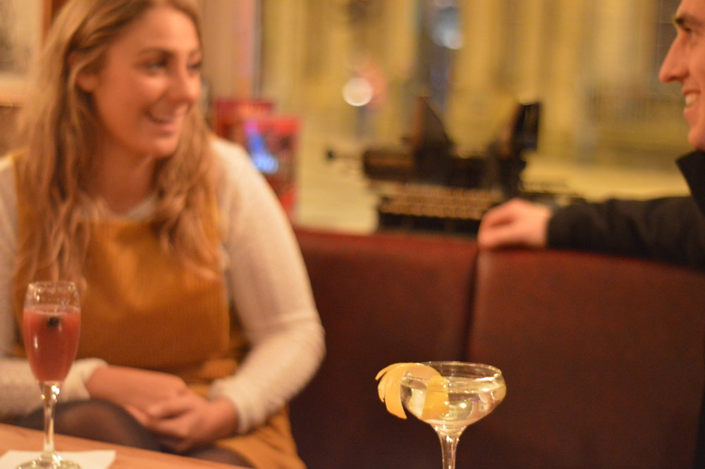 Conversation and cocktails. That is what Happy Hours are for at the Lighthouse in Oxford. Our cocktail list discounts two cocktails bought together every day between 5pm and 8pm. Perfect way to catch up with friends and colleagues.