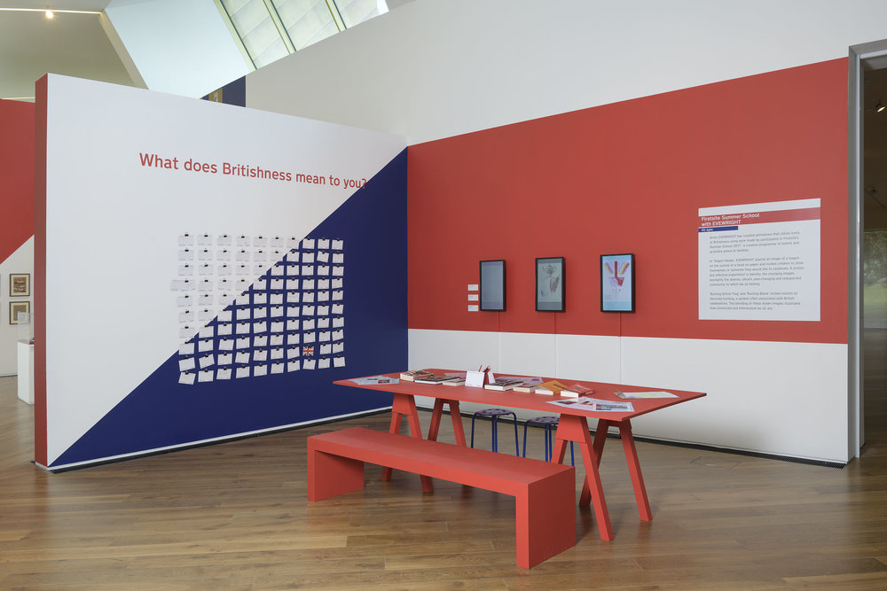 Firstsite Gallery installation The Britishness Project, Firstsite, 2018. Image courtesy of Firstsite. Photo: Douglas Atfield