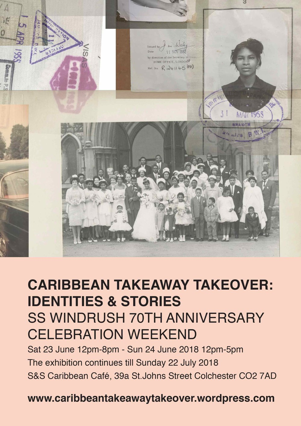 Caribbean Takeaway Takeover Poster design 02 produced by ESP