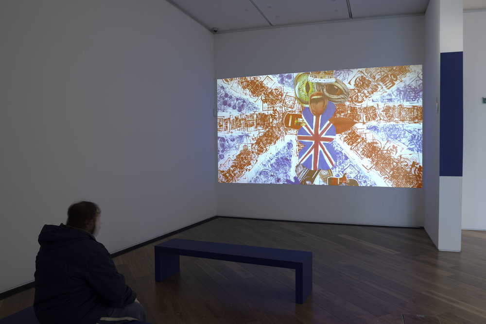 Firstsite Gallery 1. installation  The Britishness Project, Firstsite, 2018. Image courtesy of Firstsite. Photo: Douglas Atfield