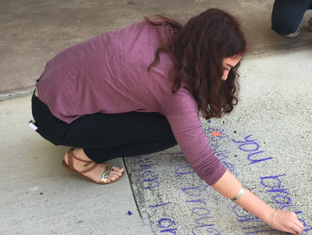 "Students can choose favorite ""sidewalk"" poems to share for National Poetry Month."