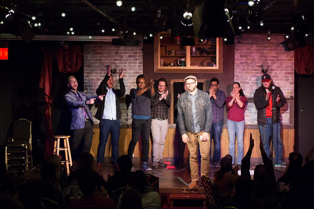 """Taking a final bow at the """"Be Happy"""" variety show."""