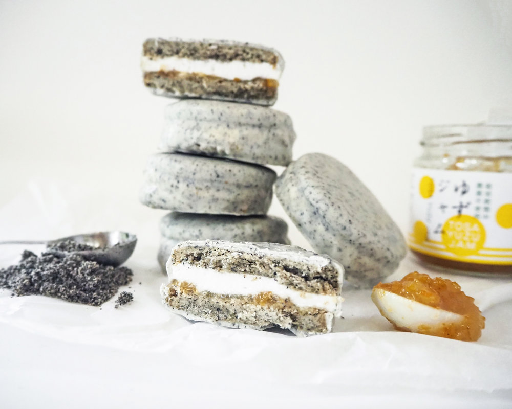 Black Sesame Yuzu Wagon Wheels — Vickiee Yo