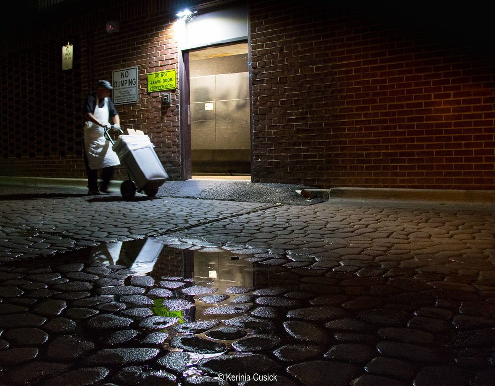Look for puddles after rain and remember shoot low and close to the puddle. In this shot the camera is about 3ft from the ground and puddle. Experiment with getting really close from the puddle, like 2 inches.