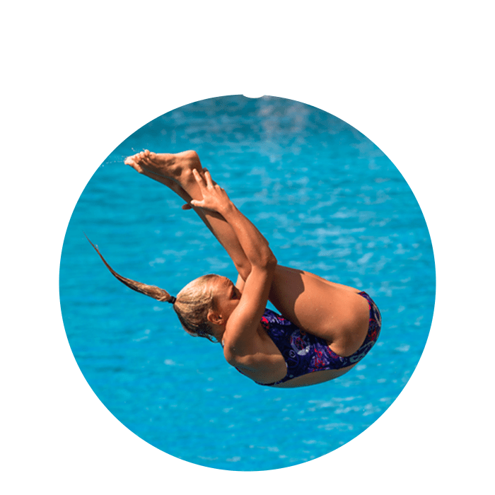 le plus aérien des sports aquatiques - Parmi nos membres: Jonathan Suckow : Champion d'Europe Junior 2013 et 2017, Michelle Heimberg: vice-Championne d'Europe Elite 2017Le plongeon, une belle école de vie.
