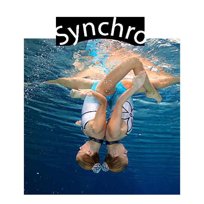 SECTION NATATION SYNCHRONISEE  Sport de précision et d'endurance alliant natation, gymnastique et danse.    cliquer ici ou sur l'image pour accéder à la section -->