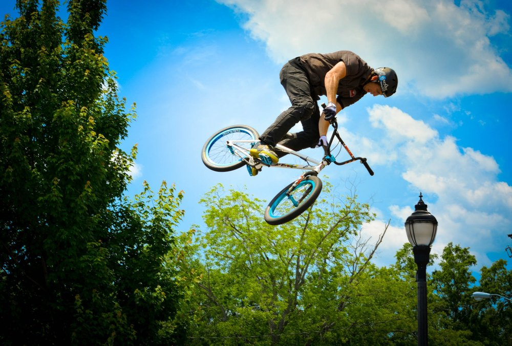 Get in the thrill zone with three BMX Bike Shows.