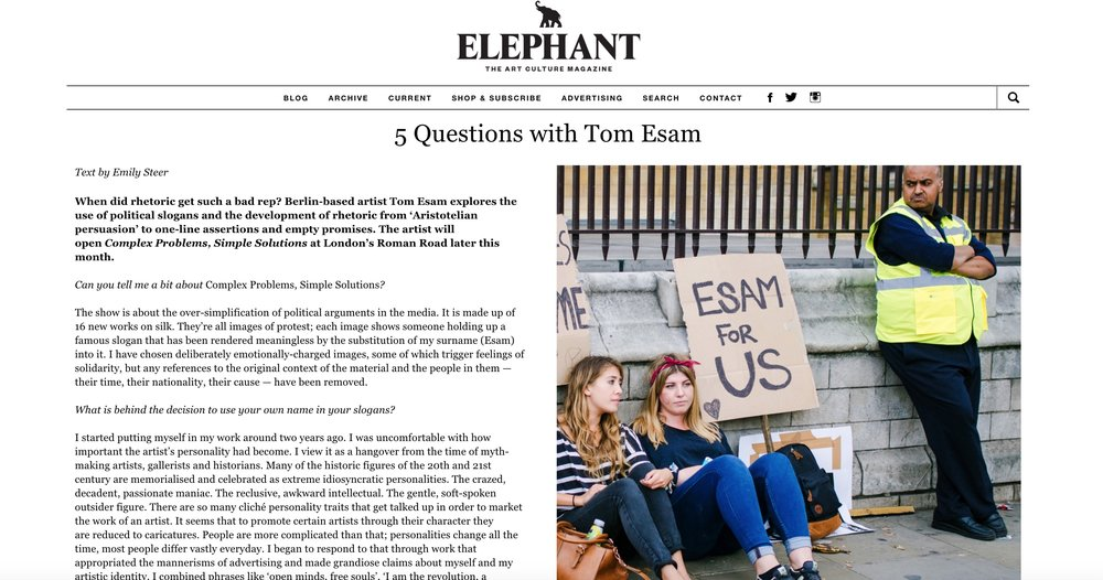 5 Questions With Tom Esam
