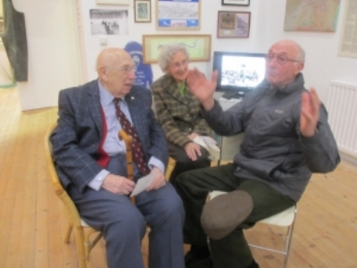 Jim and Connie Walker listening somewhat sceptically to, yes, a fishing story from Keyhole,  -