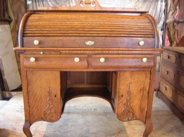 Roll-top desks are a common restoration item.