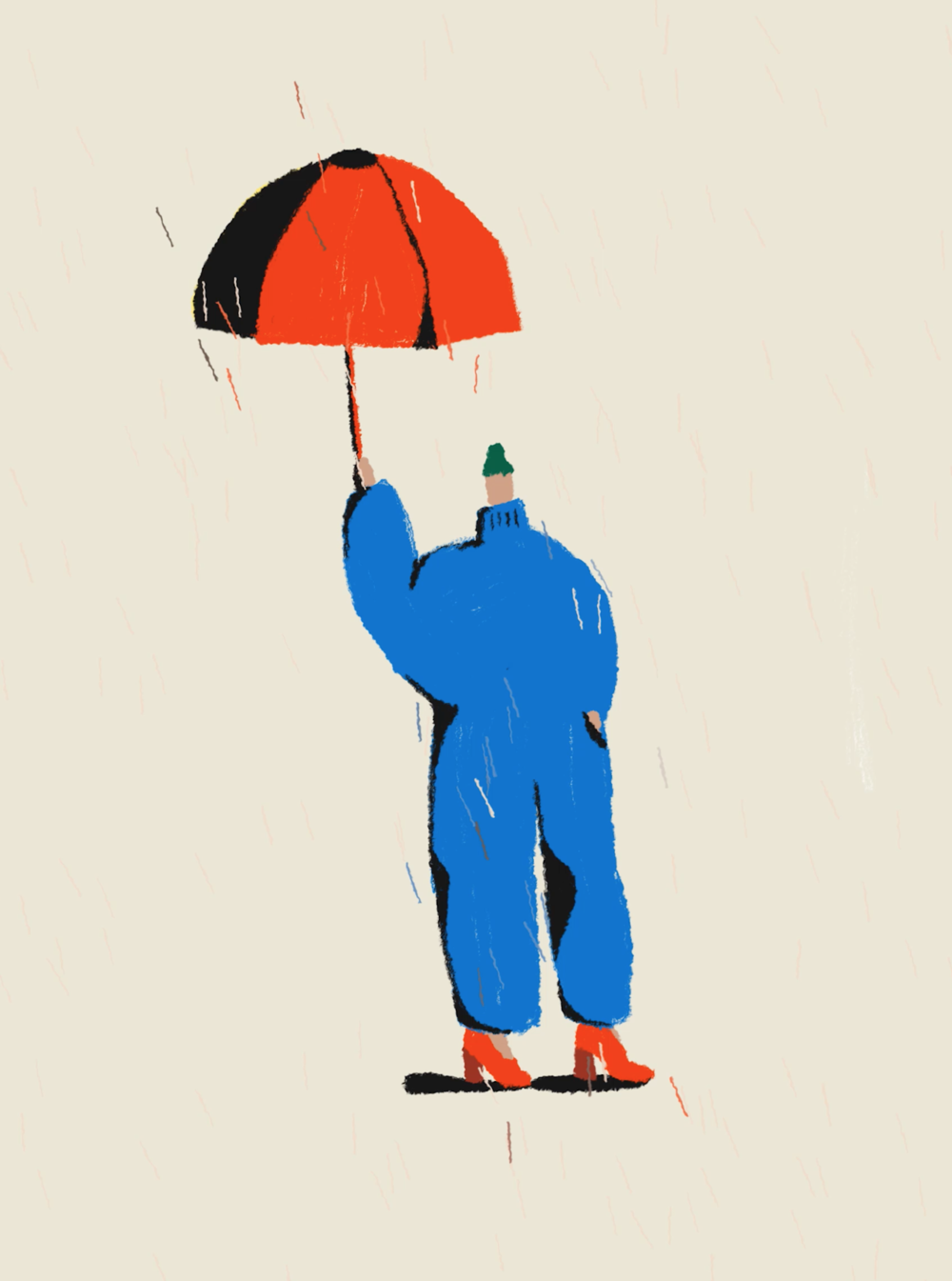 Rain [umbrella] - animation by Sharon Harris
