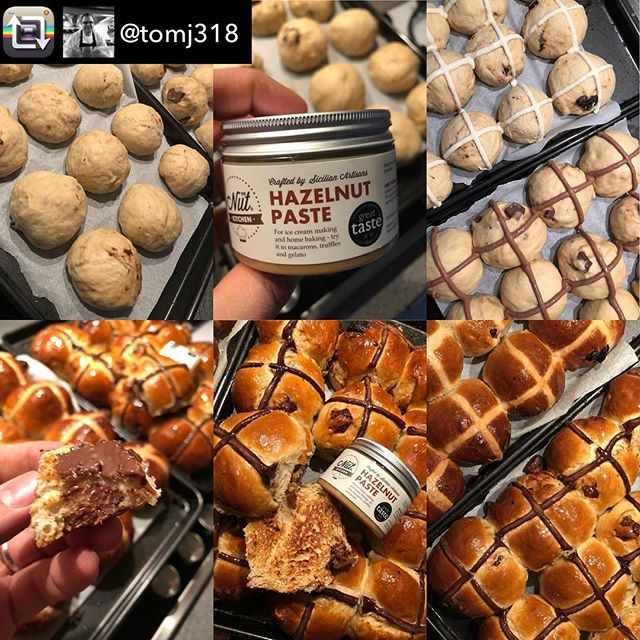 Someone's been busy today! Shoutout to @tomj318 for using our Hazelnut Paste to make these awesome Chocolate and Hazelnut hot cross buns! 😋 Repost from @tomj318 using @RepostRegramApp - Traditional or Chocolate & Hazelnut hot cross buns - @thenutkitchenhq #hazelnutpaste #home #iphonex #hotcrossbun #hotxbuns #chocolate #pastry #baking #hotcrossbuns #happyeaster #chef #foodie #bakeoff #bake #baker #baked #bakeityourself #bread #breadmaking