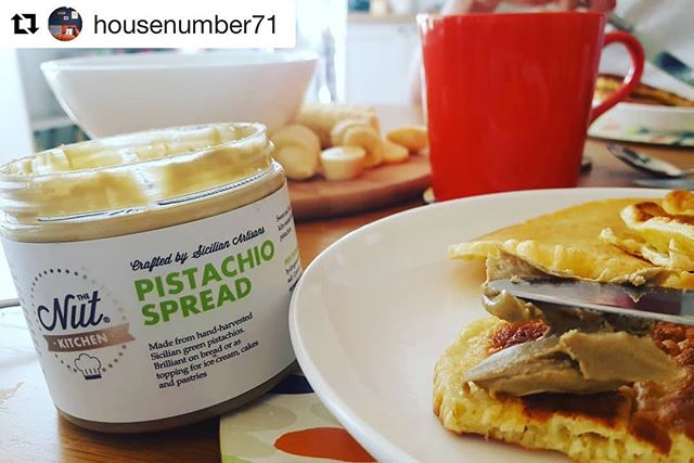 Reposting from @housenumber71 - thank you for the ❤️. #Repost @housenumber71 with @get_repost ・・・ Has anyone tried this? Pistachio spread actually tastes like dreams.... Honest! I discovered it on honeymoon in Venice this year and ordered it Amazon prime so it arrived to our house the day we returned... #mayinteriorchallenge May Day is for pancakes!  #pistachiospread #thenutkitchen #pancakes #spelt #fearnecotton #homemade #breakfast #instadelish #instayum #pistachio #foodielondon #foodie #nutbutteraddict #nutspread #nutbutter