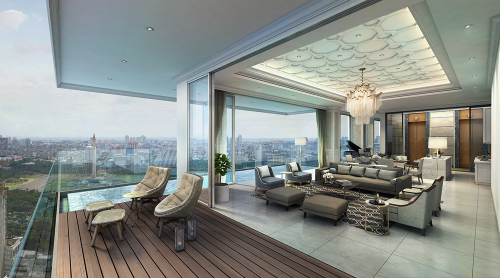 Sky Villa Type B - Living/Dining & Terrace