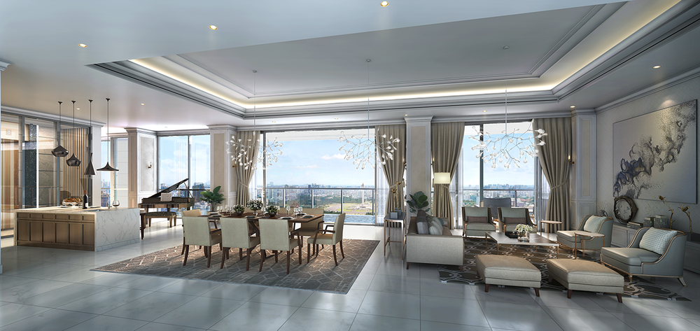 Sky Villa Type A - Living & Dining Area