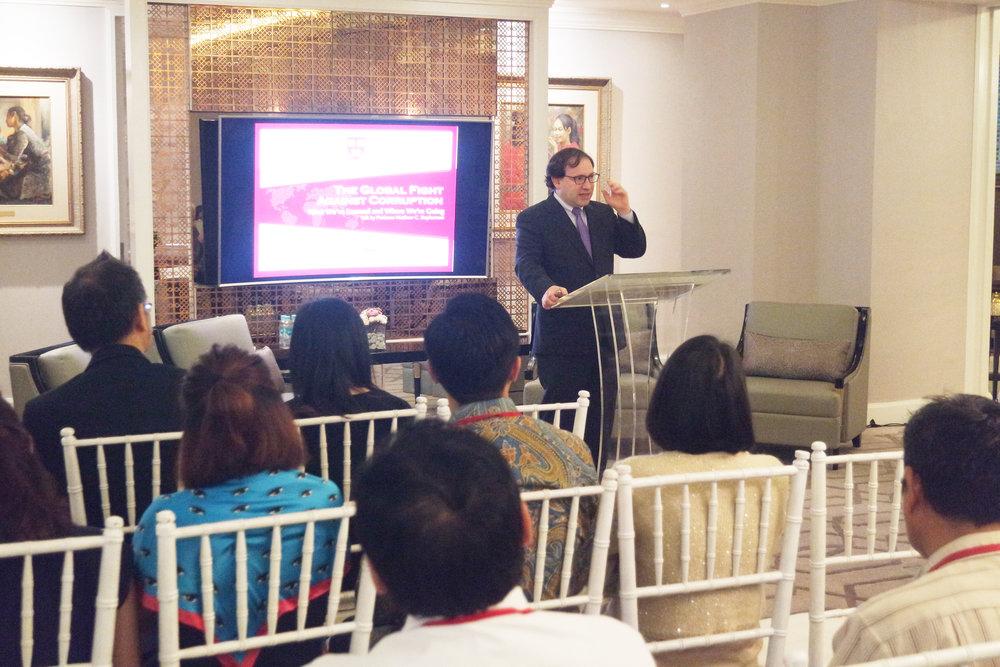 Prof. Matthew C. Stephenson (Harvard Law School) delivered talk entitled 'Global Fight Against Corruption'