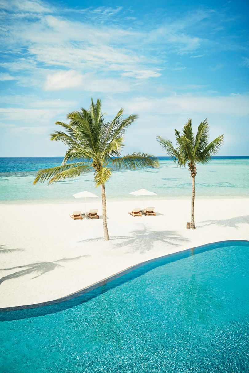 Source :  https://tr-images.condecdn.net/image/NLQ4awG461p/crop/810/f/four-seasons-maldives-private-island-at-voavah-baa-atoll-maldives-conde-nast-traveller-1march17-jenny-zarins.jpg      This is perfect if you're looking a total temporary disconnection to the outside world and simply want to rest with maximum privacy. With its five-acre seven bedrooms, the beautiful view of Maldives is all yours. Not to mention, your own spa, and 28 staff dedicated to making your holiday enjoyable!
