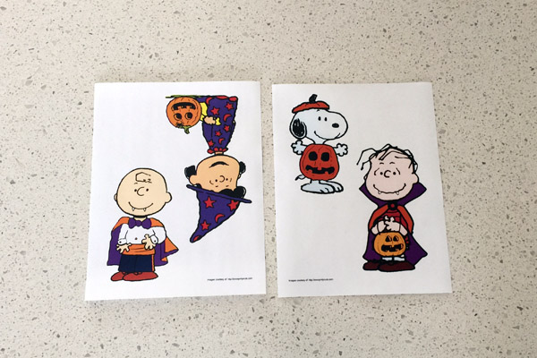 Peanuts Character Halloween Templates