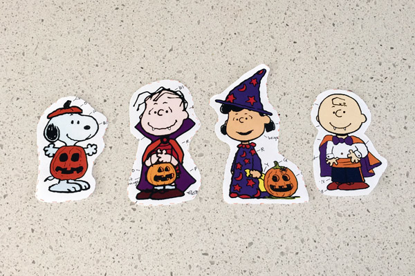 Peanuts Halloween Character Cutouts