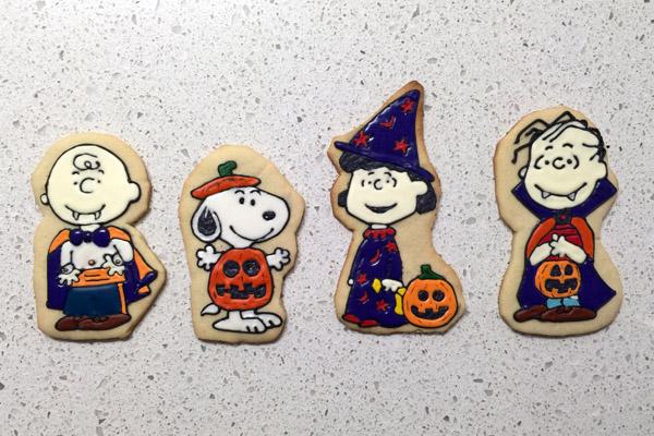 Peanuts Characters Halloween Cookies