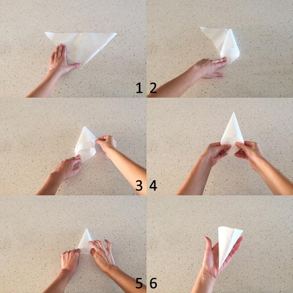 parchment piping bag technique