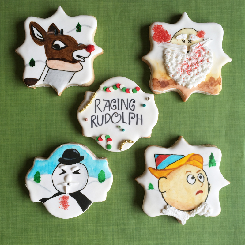 raging rudolph cookies