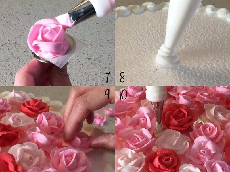 Valentine Rose Cake 7-10