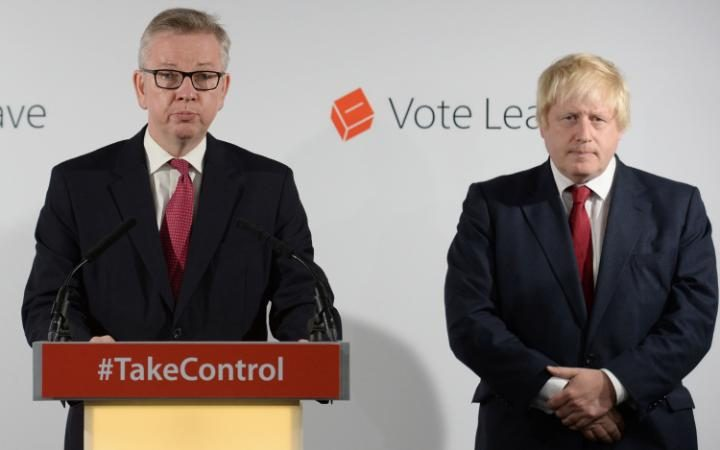 Michael Gove (Conservative)and Boris Johnson (Conservative)