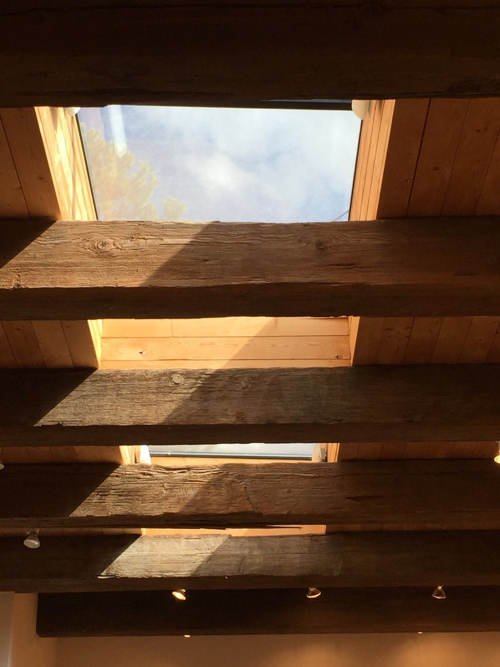 Tesuque studio skylight