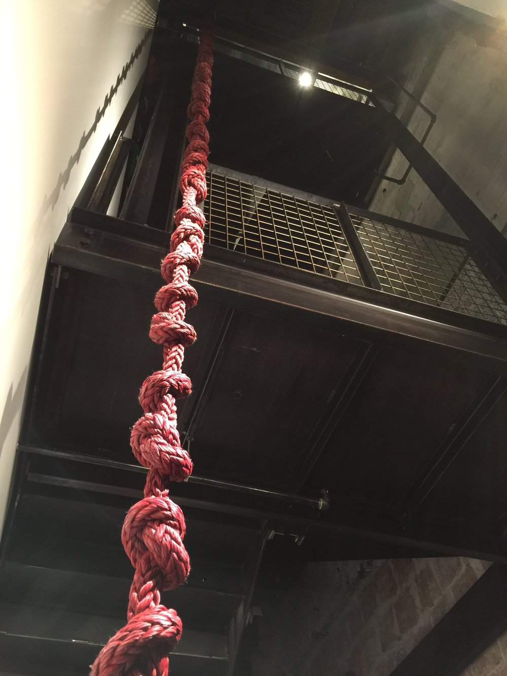 Red Rope Mala, 108 knots (sold).