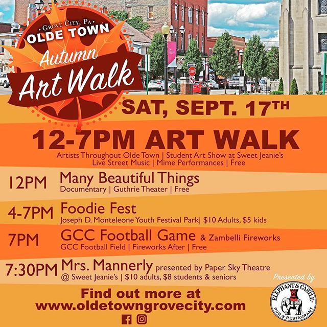 It's going to be an awesome Saturday #iheartthegrove #autumnartwalk #foodiefest #localart #localfood #supportlocal #drama #theatre