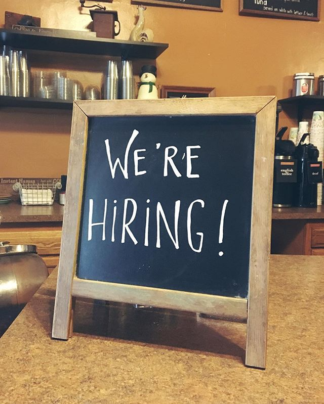 We're hiring baristas! 🎉 ☕️We're looking for someone who is available part time with flexible hours. Experience in coffee and/or the food industry is a plus! Stop in today for an application. 😄