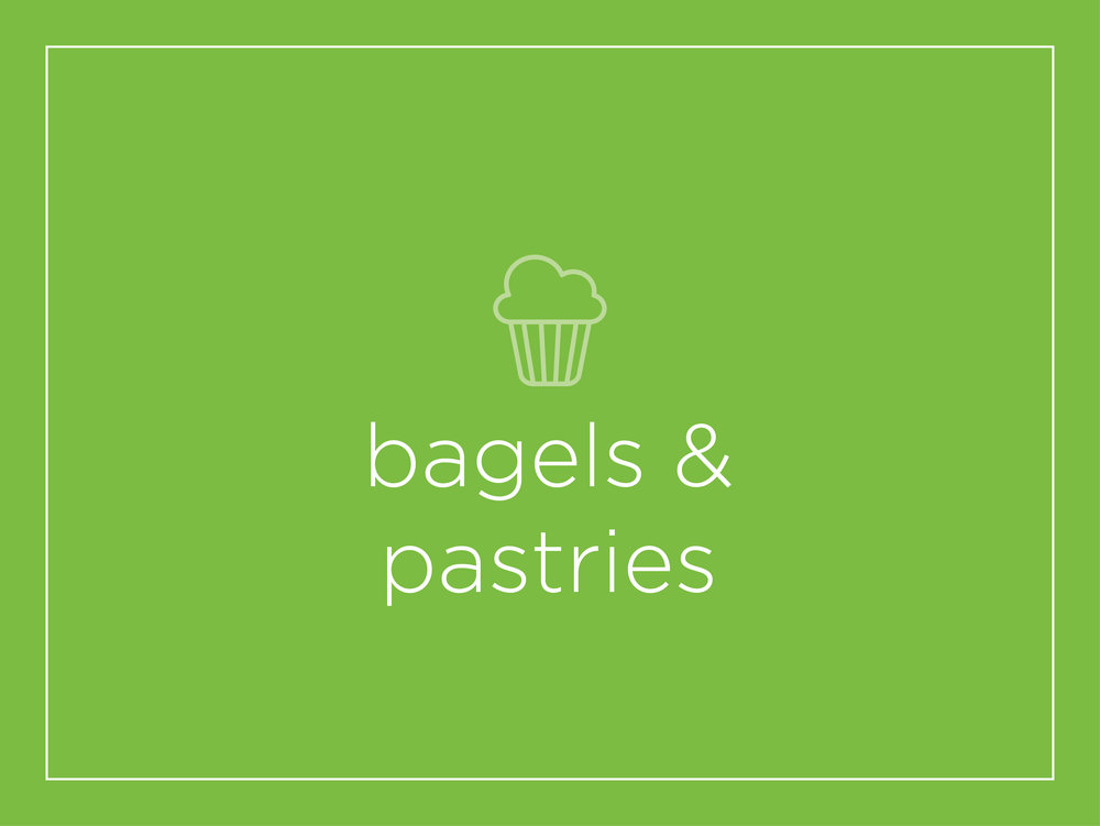 - bagel: 2.00toast, english muffin or croissant: 1.25scone: 2.75pastries: 1.75fresh muffin: 2.00
