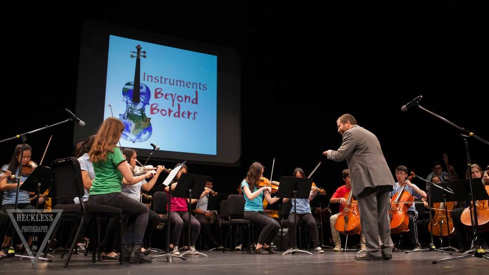 Recyled orchestra and St. James musicians