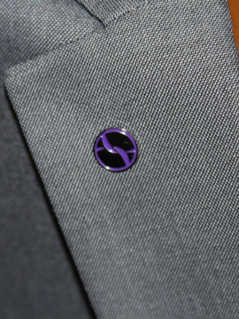 Our Purple Offline Connections Pin is for people looking for a gay/lesbian relationship.