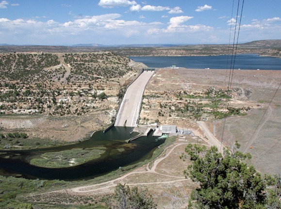 Navaho Reservoir Dam, San Juan River, New Mexico