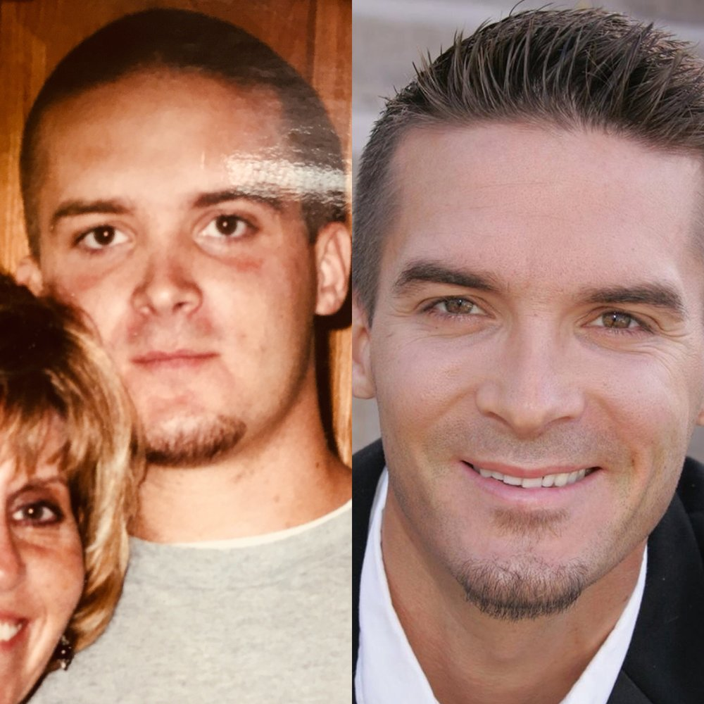 On the left is a picture of Erik during his 13yrs of active addiction. The right is a picture of Erik living free and clean. Erik is almost 10yrs clean and sober.