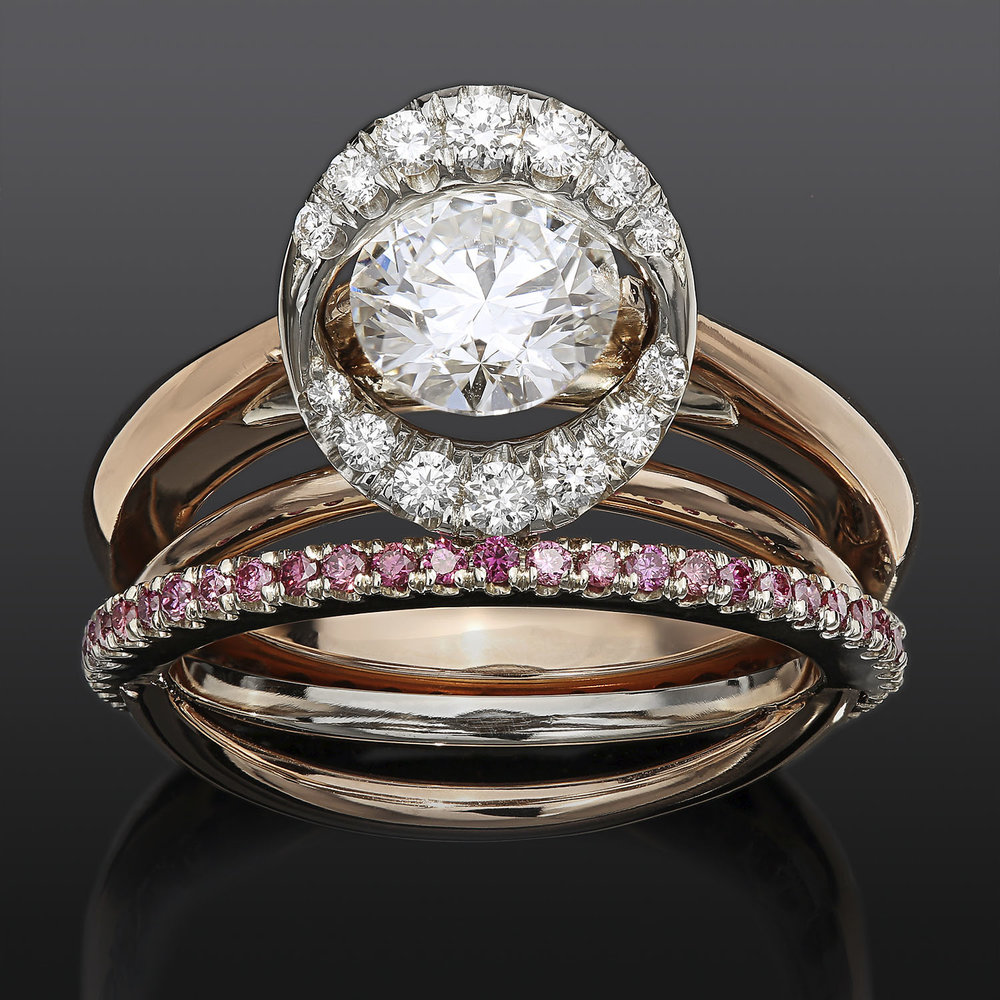 """Meteor Engagement Ring Set""<br><strong>Greg Neeley</strong><br>Georgetown, TX, USA"