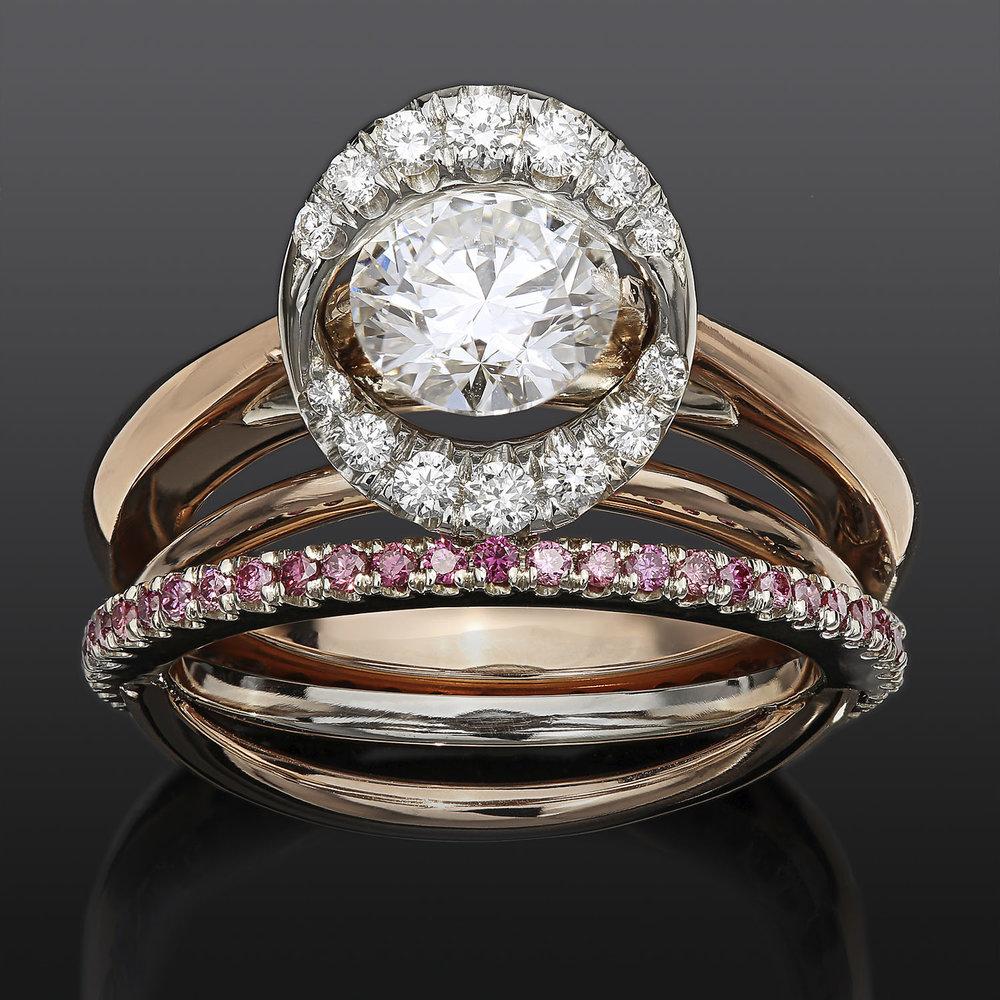 """""""Meteor Engagement Ring Set"""""""