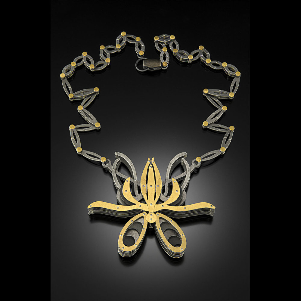 """Orchid Neckpiece""<br><strong>E. Douglas Wunder</strong><br>Kutztown, PA, USA"